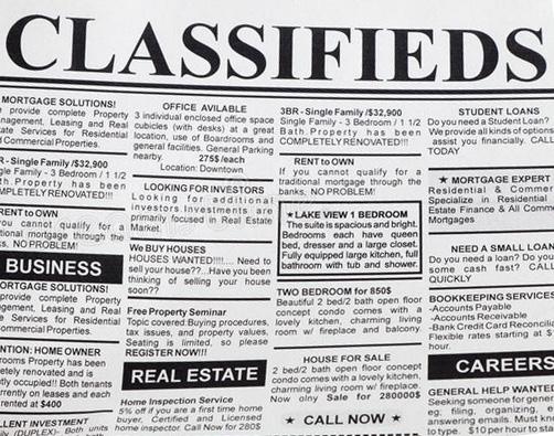Classified Ads :